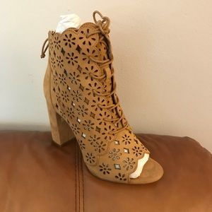 Rachel Zoe Ashley Peeptoe Bootie- size 9